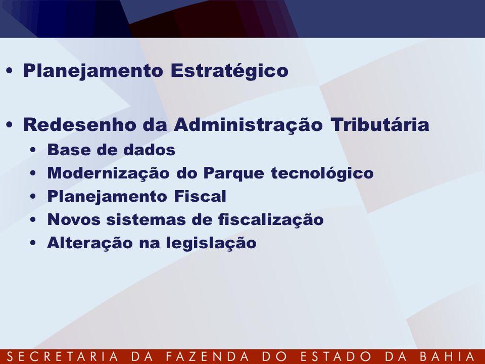 Planejamento Estratégico Redesenho da Administração Tributária