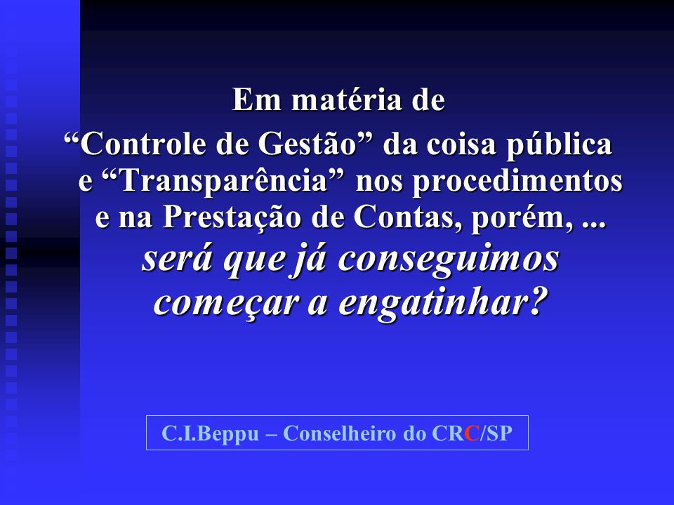 C.I.Beppu – Conselheiro do CRC/SP