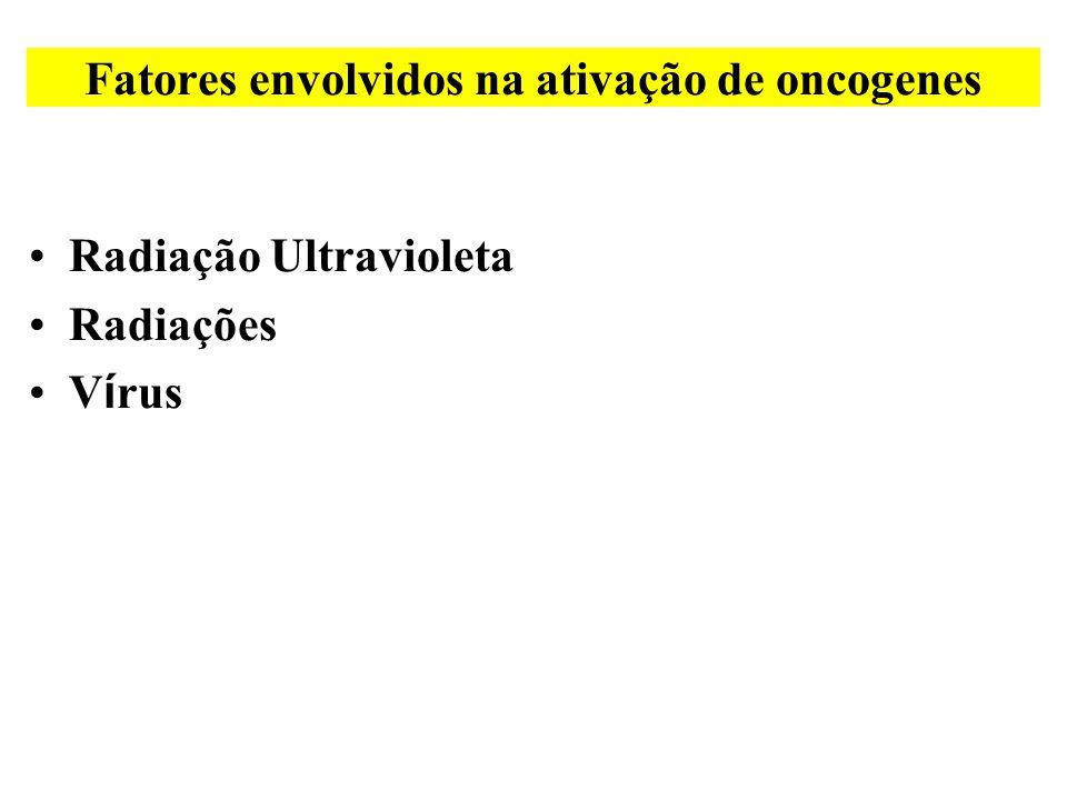 Fatores envolvidos na ativação de oncogenes