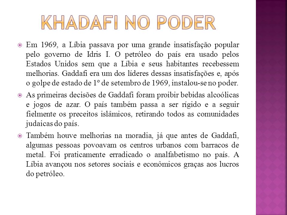 Khadafi no poder