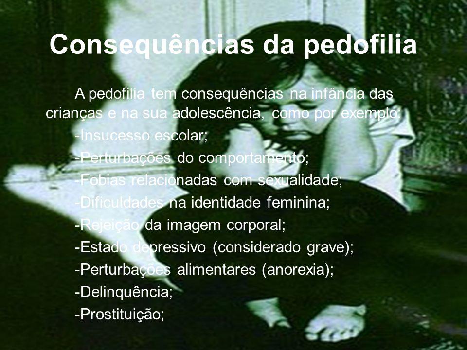 Consequências da pedofilia