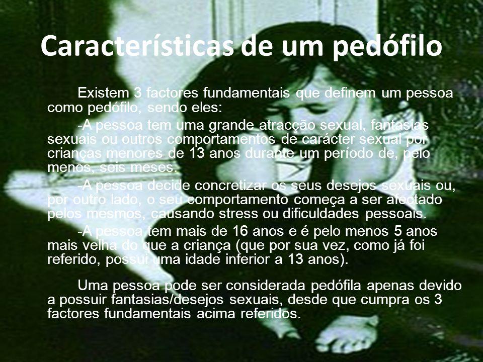 Características de um pedófilo