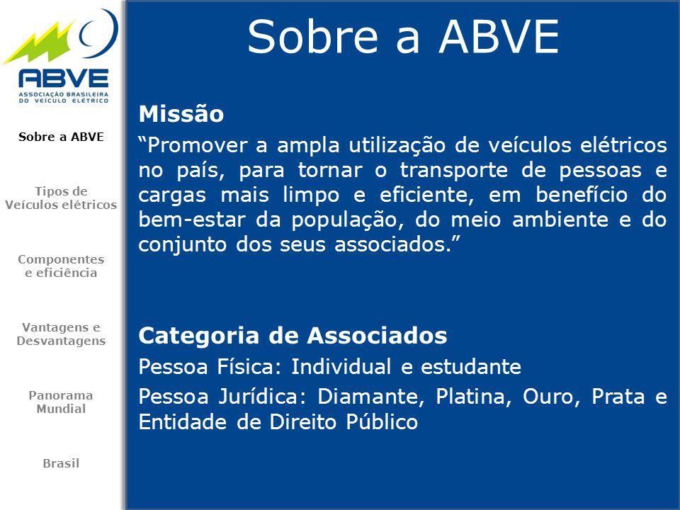 Sobre a ABVE Missão Categoria de Associados