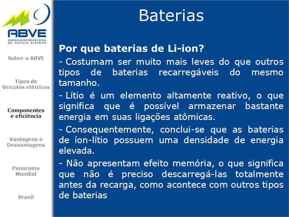 Baterias Por que baterias de Li-ion