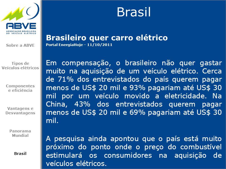 Brasil Brasileiro quer carro elétrico