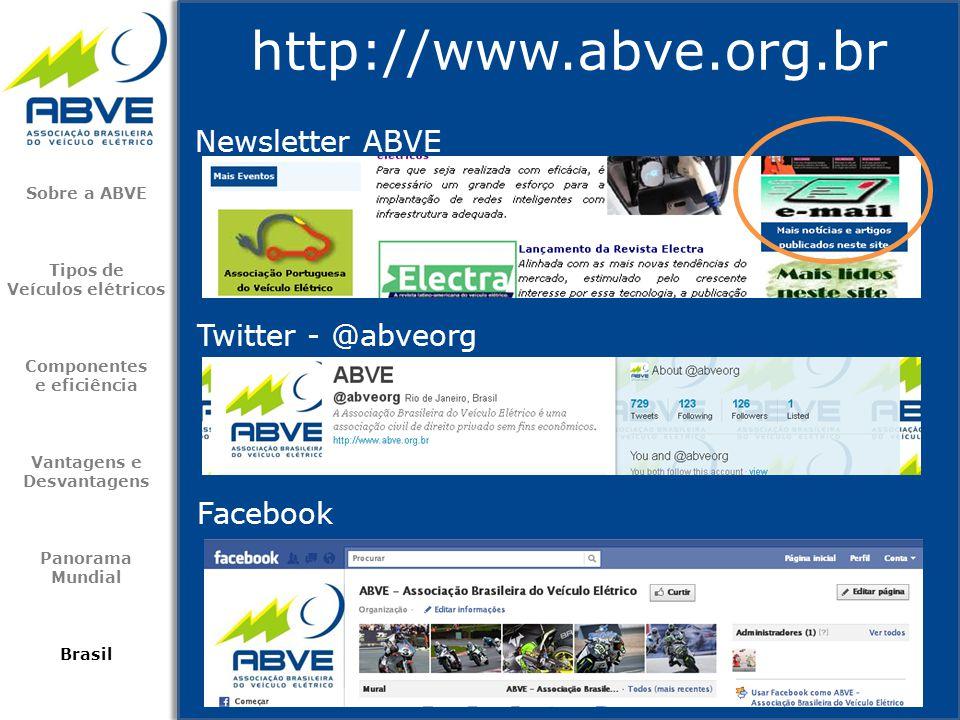 http://www.abve.org.br Newsletter ABVE Twitter - @abveorg Facebook