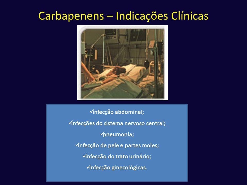 Carbapenens – Indicações Clínicas