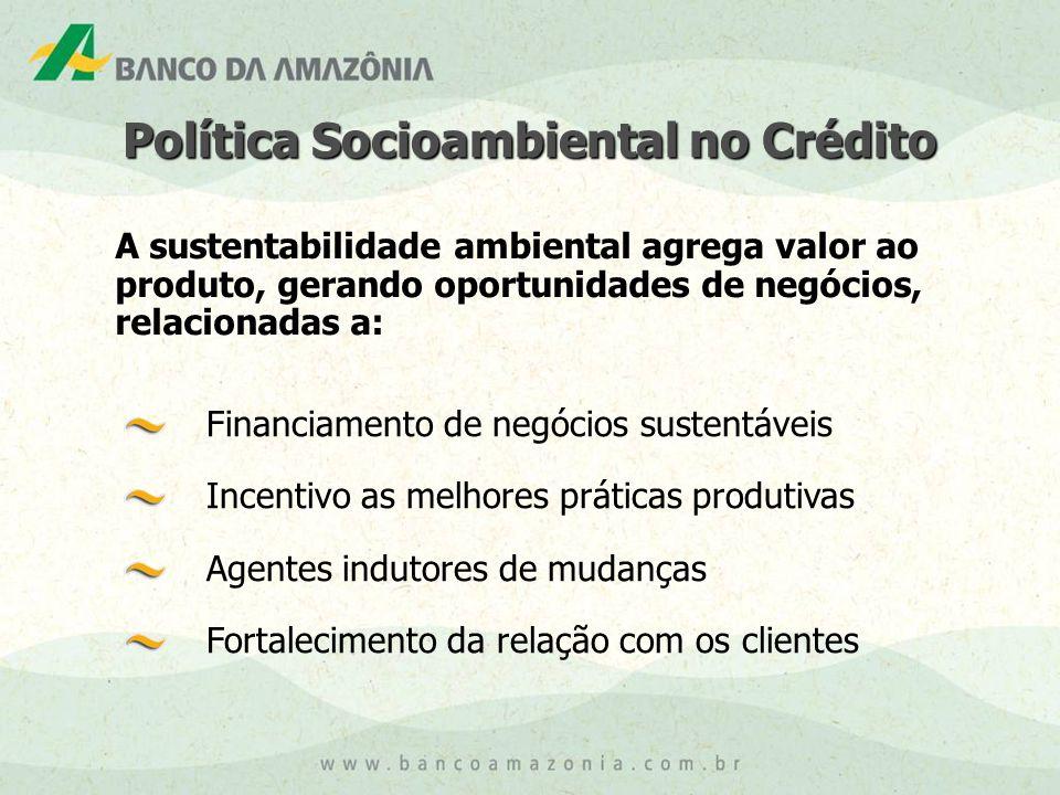 Política Socioambiental no Crédito