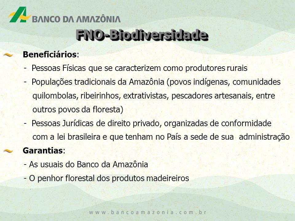 FNO-Biodiversidade Beneficiários: