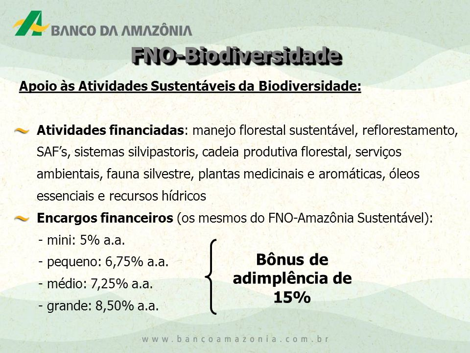 Bônus de adimplência de 15%