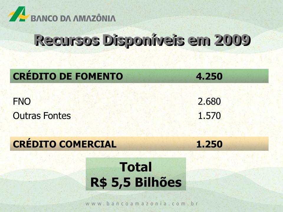 Recursos Disponíveis em 2009