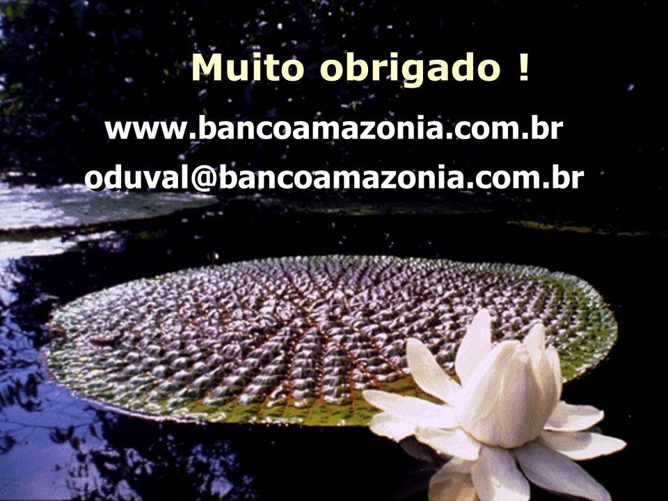 Muito obrigado ! www.bancoamazonia.com.br oduval@bancoamazonia.com.br