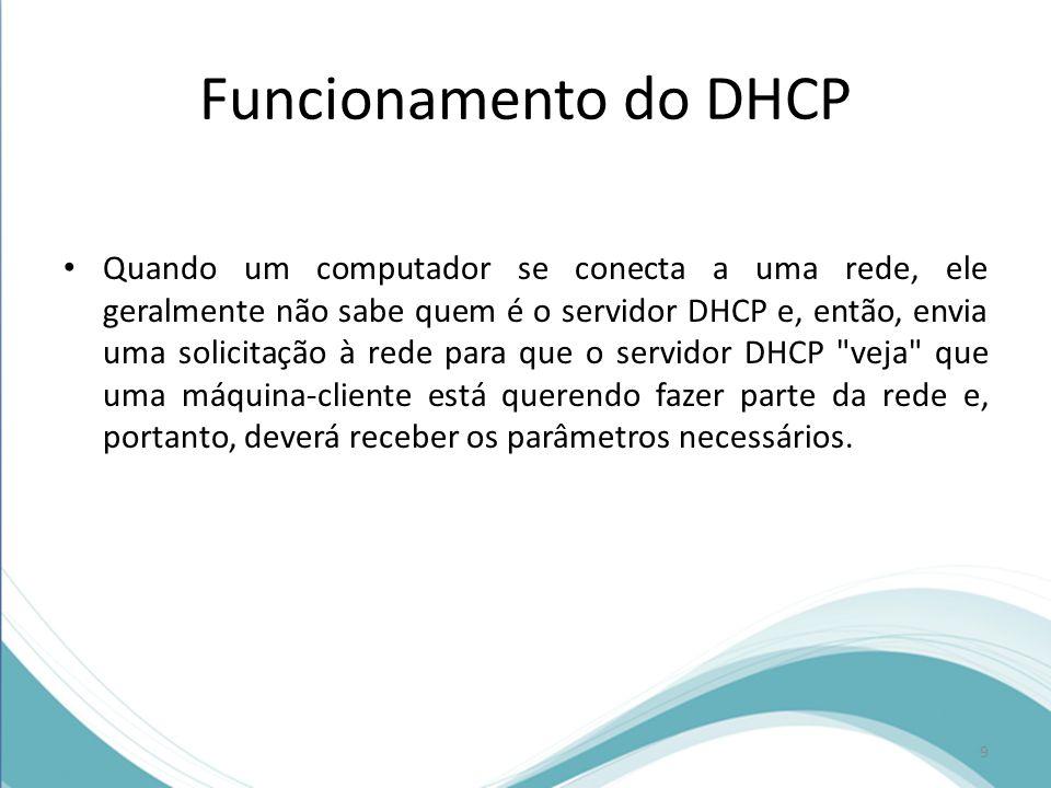 Funcionamento do DHCP
