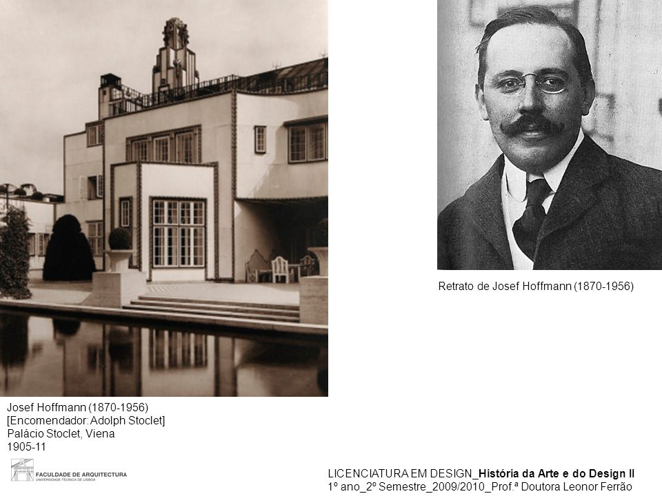 Retrato de Josef Hoffmann (1870-1956)