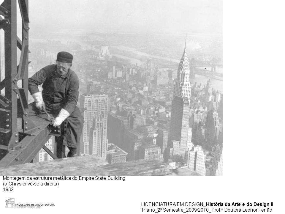 Montagem da estrutura metálica do Empire State Building