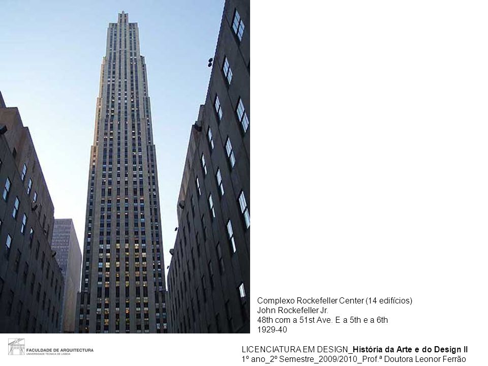 Complexo Rockefeller Center (14 edifícios)