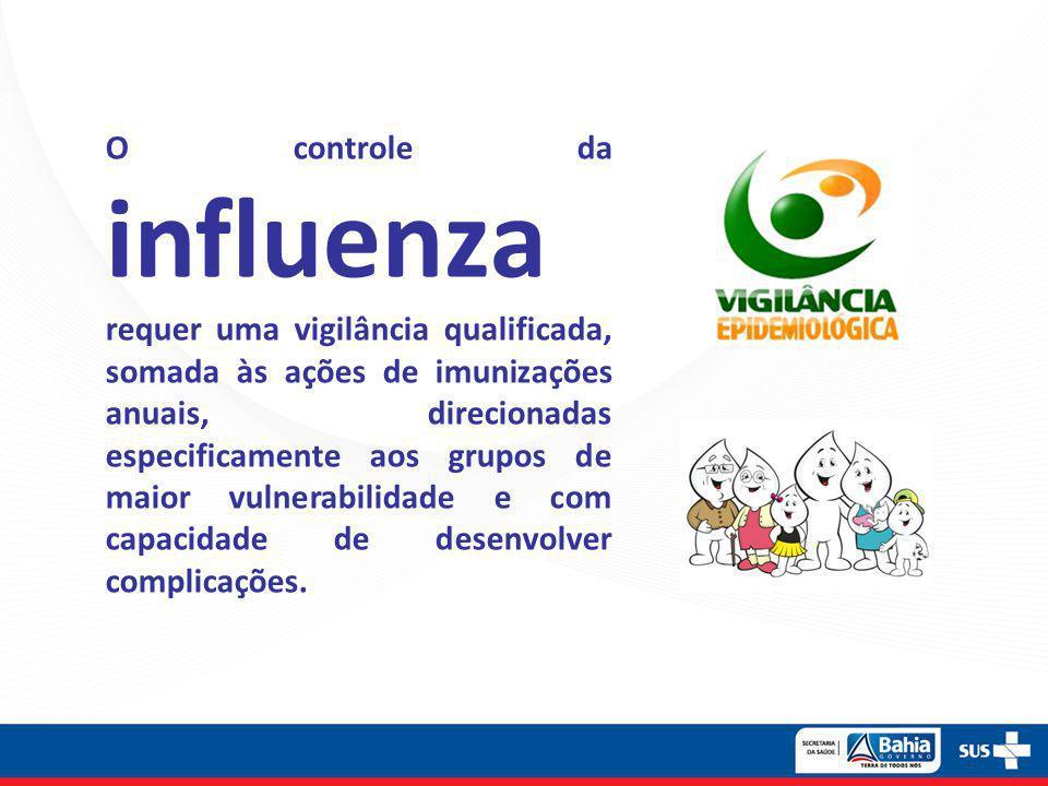 O controle da influenza requer uma vigilância qualificada, somada às ações de imunizações anuais, direcionadas especificamente aos grupos de maior vulnerabilidade e com capacidade de desenvolver complicações.