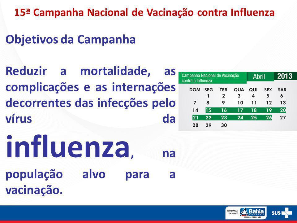 15ª Campanha Nacional de Vacinação contra Influenza