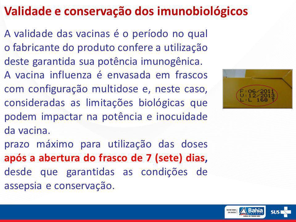 Validade e conservação dos imunobiológicos