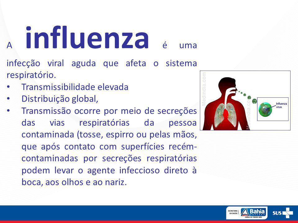 A influenza é uma infecção viral aguda que afeta o sistema respiratório.