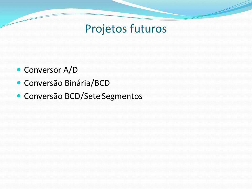 Projetos futuros Conversor A/D Conversão Binária/BCD
