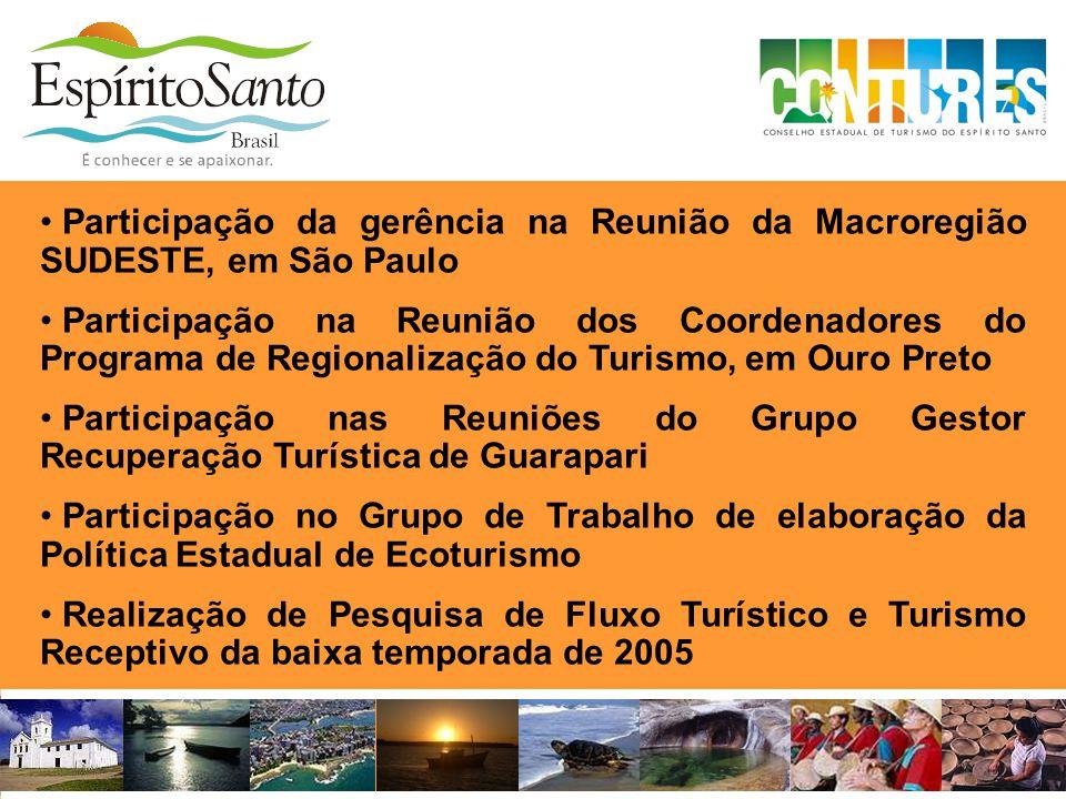 Participação da gerência na Reunião da Macroregião SUDESTE, em São Paulo