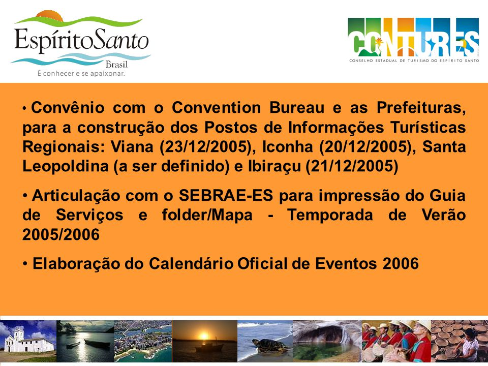 Elaboração do Calendário Oficial de Eventos 2006