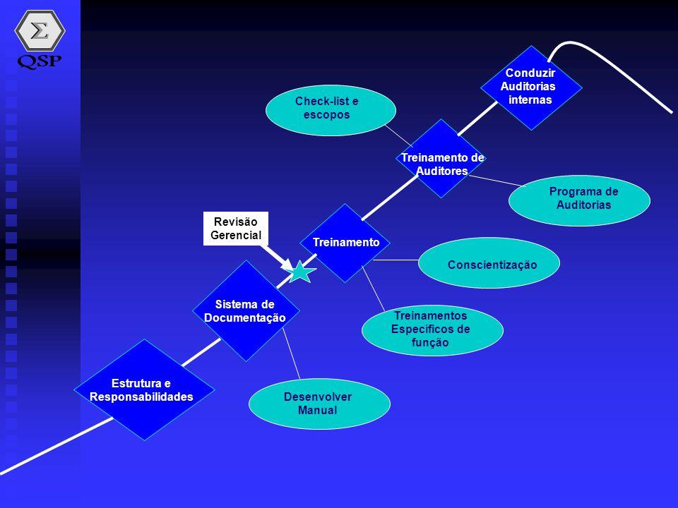 Conduzir Auditorias. internas. Check-list e. escopos. Treinamento de. Auditores. Programa de.