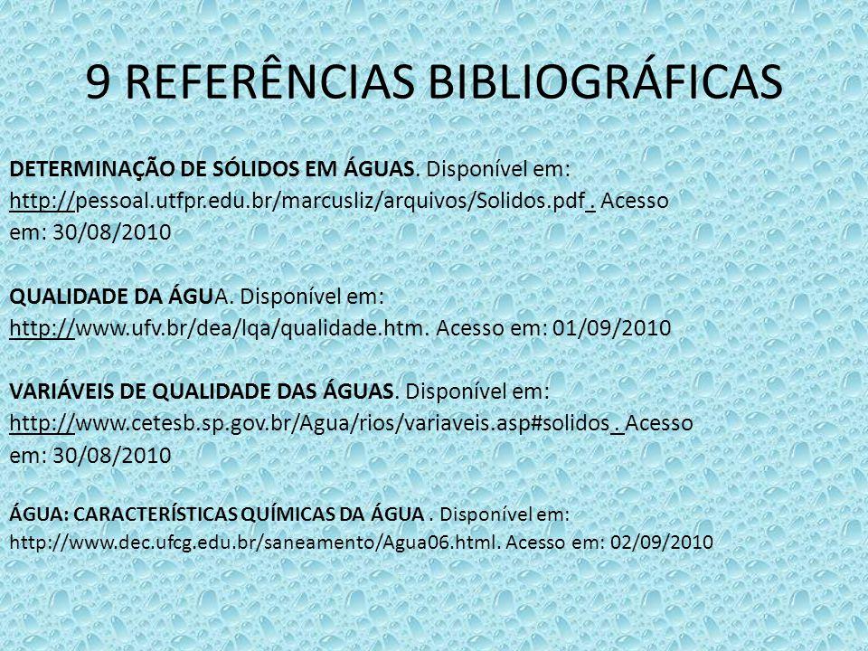 9 REFERÊNCIAS BIBLIOGRÁFICAS