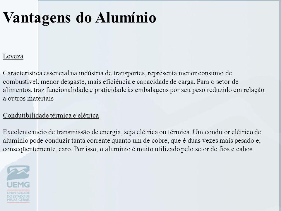 Vantagens do Alumínio Leveza