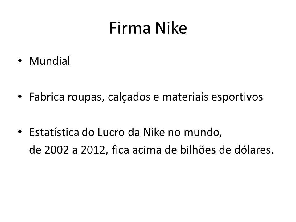 Firma Nike Mundial Fabrica roupas, calçados e materiais esportivos