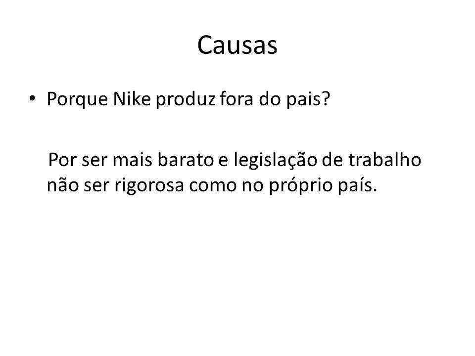 Causas Porque Nike produz fora do pais