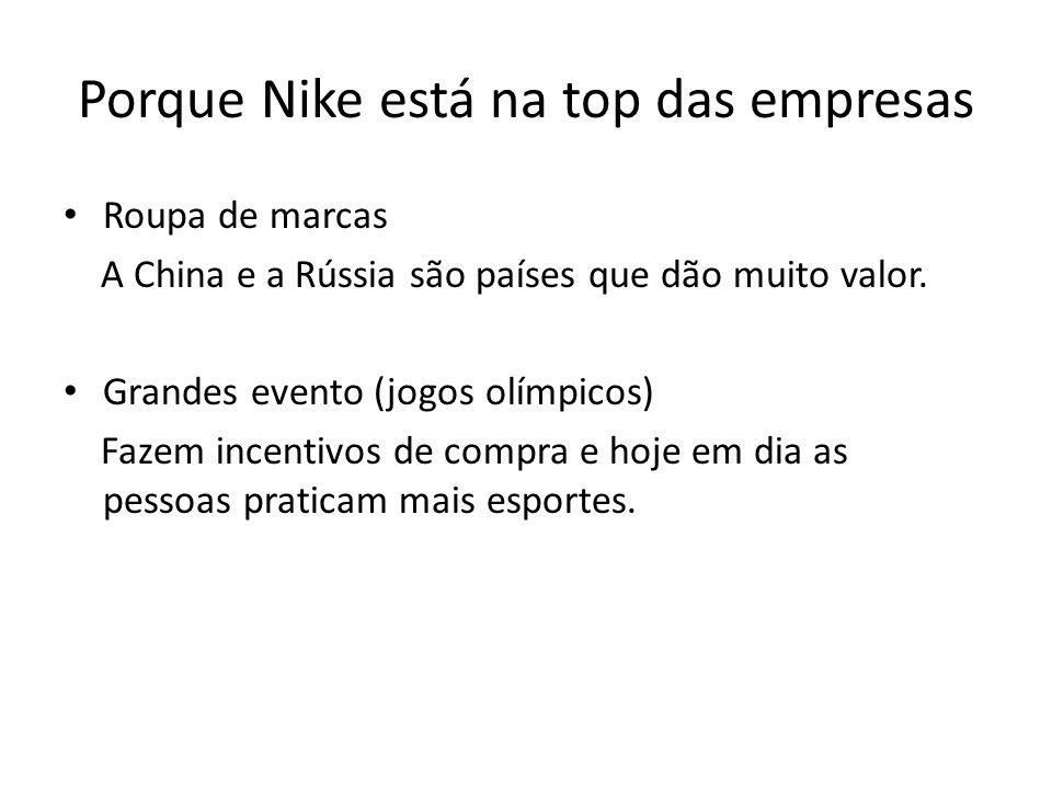 Porque Nike está na top das empresas