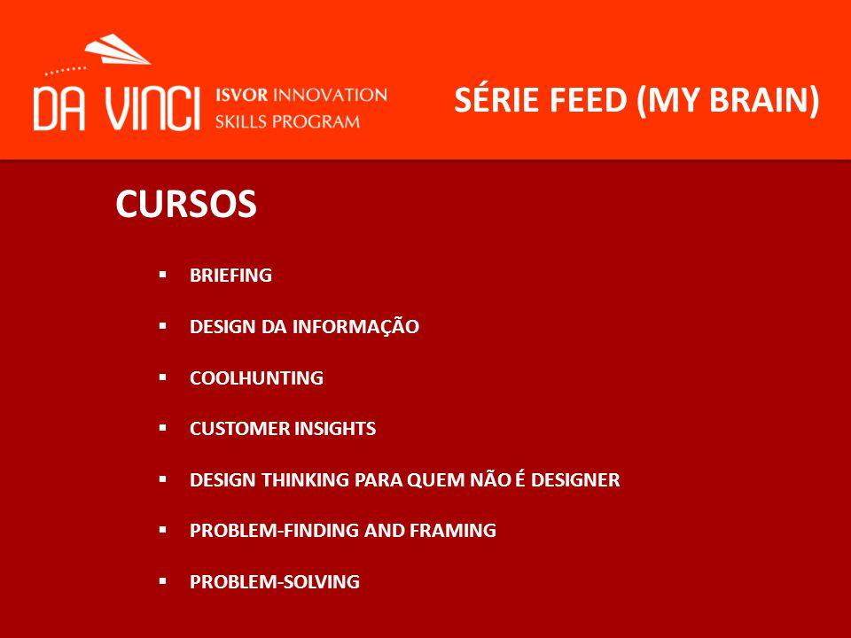 CURSOS SÉRIE FEED (MY BRAIN) BRIEFING DESIGN DA INFORMAÇÃO COOLHUNTING