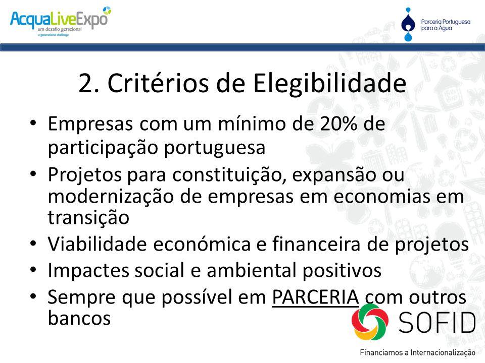 2. Critérios de Elegibilidade