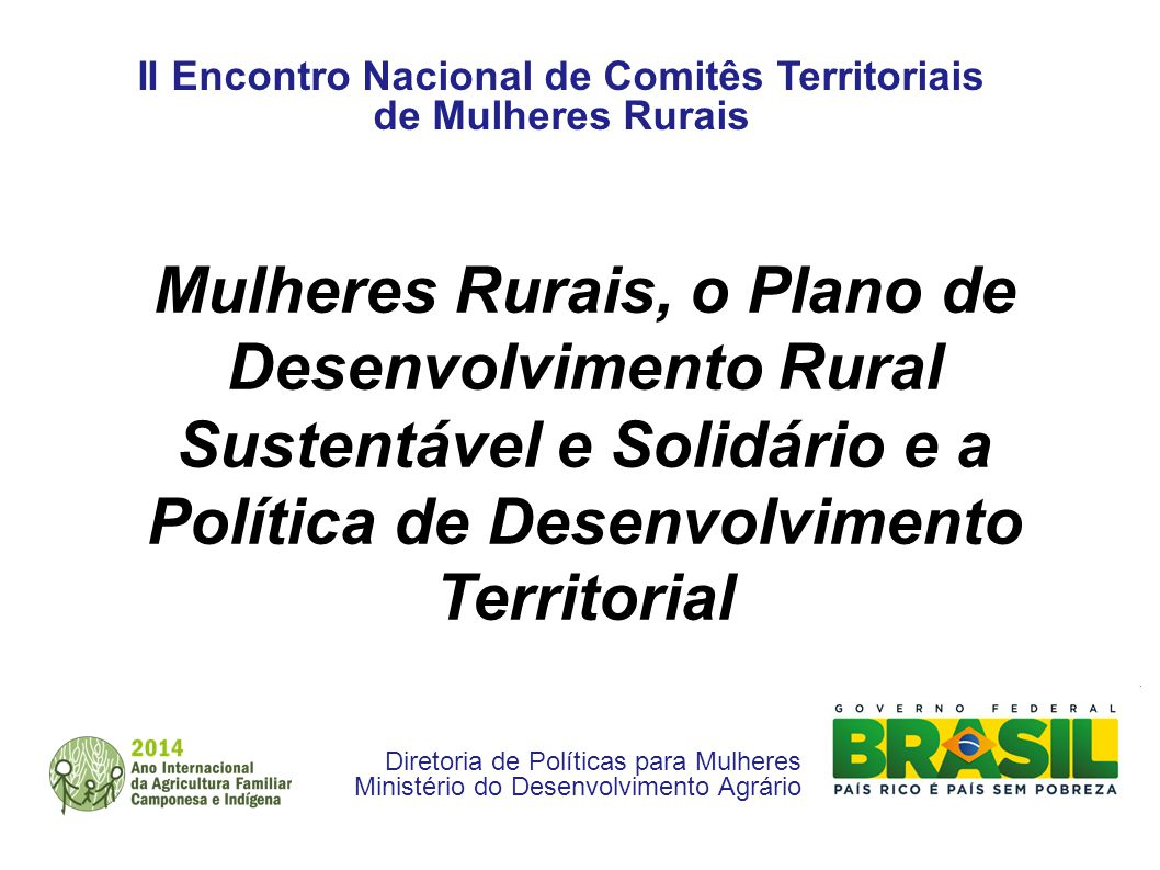 II Encontro Nacional de Comitês Territoriais de Mulheres Rurais