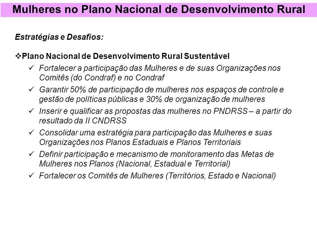 Mulheres no Plano Nacional de Desenvolvimento Rural