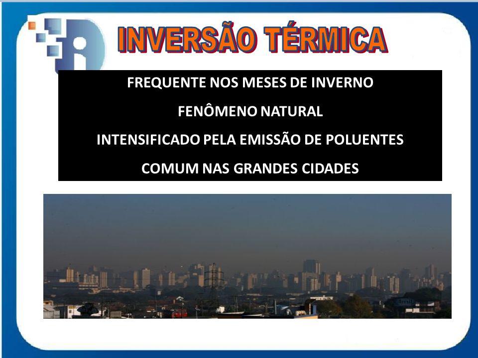 INVERSÃO TÉRMICA FREQUENTE NOS MESES DE INVERNO FENÔMENO NATURAL
