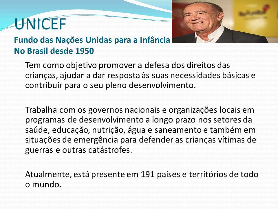 UNICEF Fundo das Nações Unidas para a Infância No Brasil desde 1950
