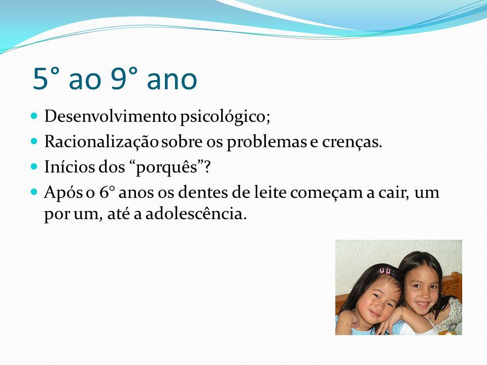 5° ao 9° ano Desenvolvimento psicológico;