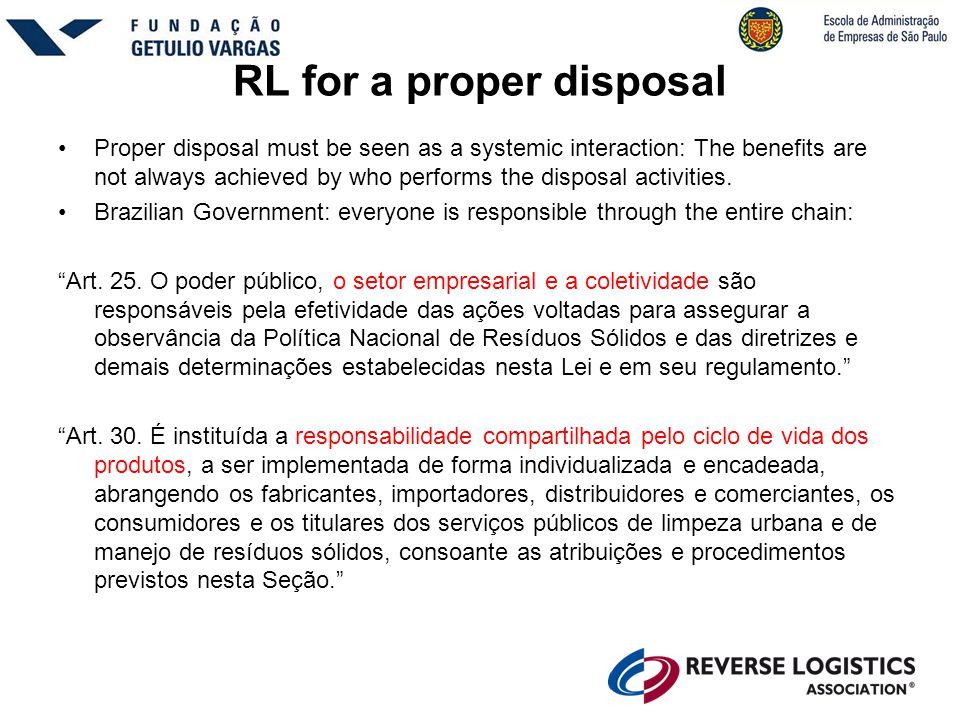 RL for a proper disposal