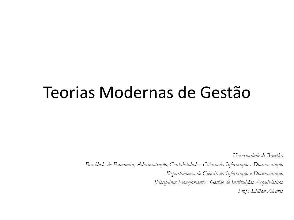 Teorias Modernas de Gestão