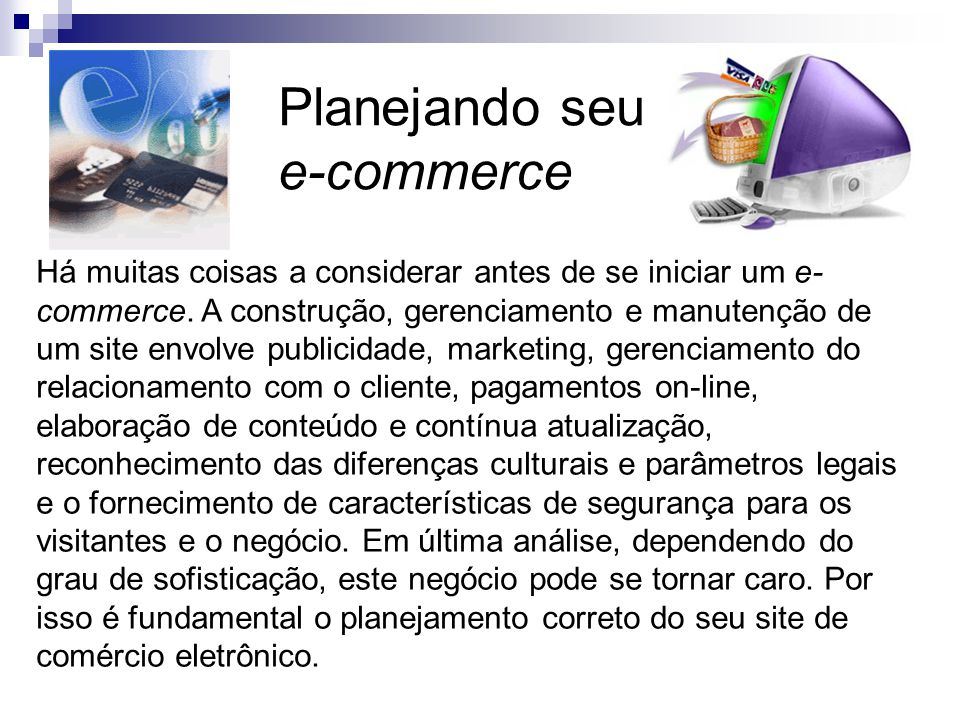 Planejando seu e-commerce