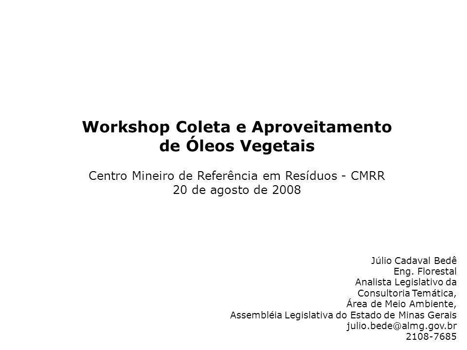 Workshop Coleta e Aproveitamento