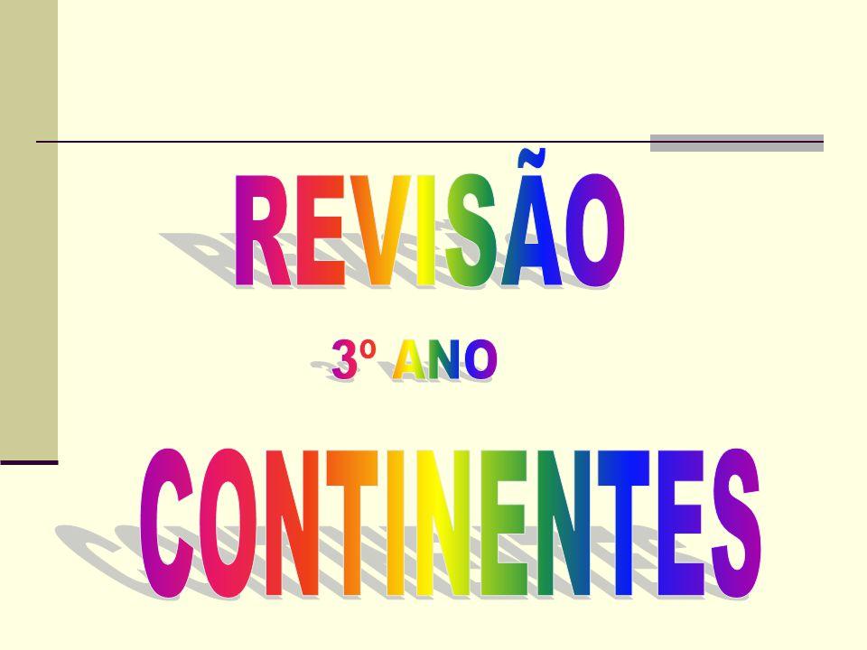 REVISÃO 3º ANO CONTINENTES