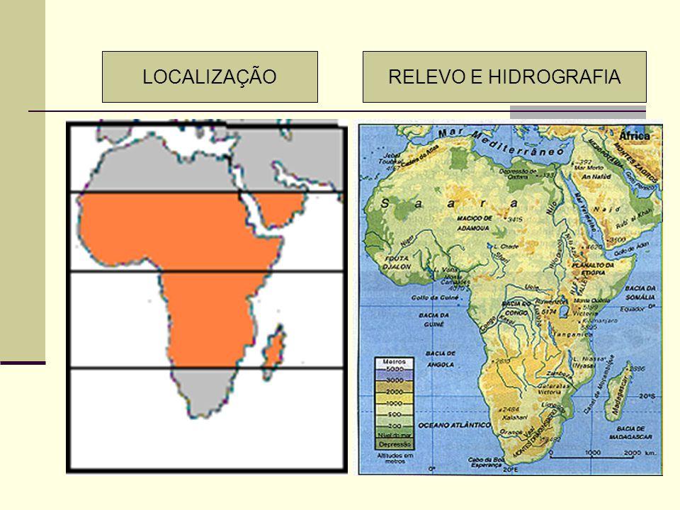 LOCALIZAÇÃO RELEVO E HIDROGRAFIA