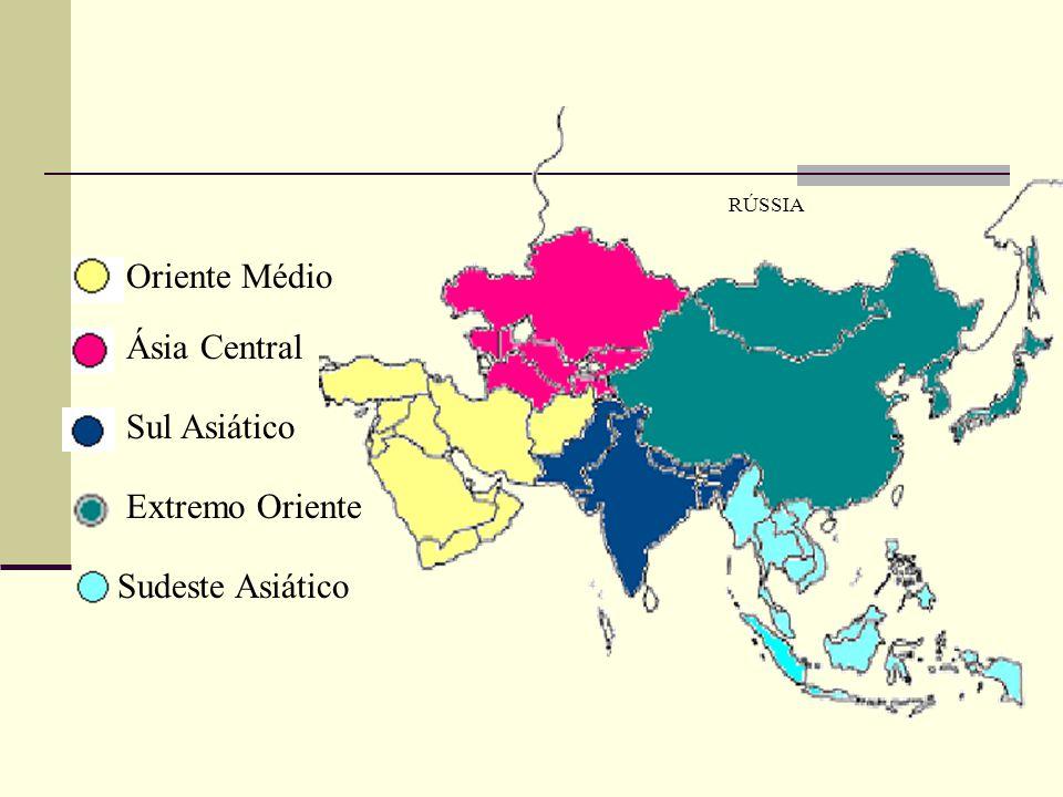 Oriente Médio Ásia Central Sul Asiático Extremo Oriente