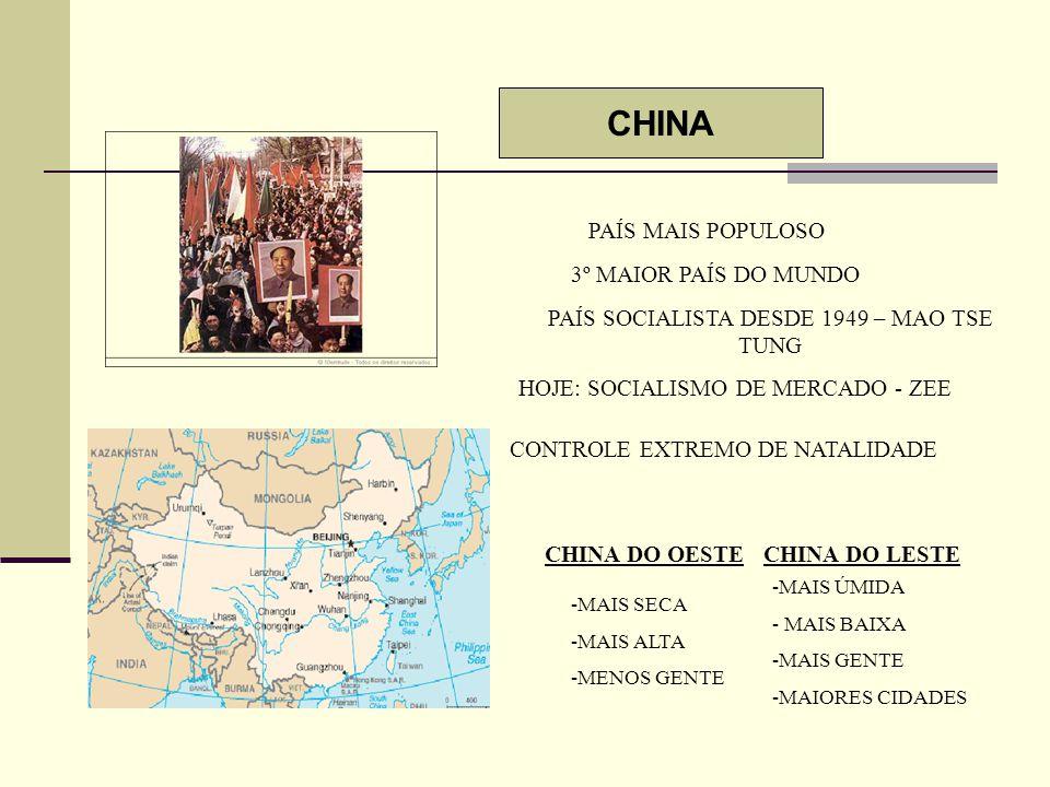 PAÍS SOCIALISTA DESDE 1949 – MAO TSE TUNG