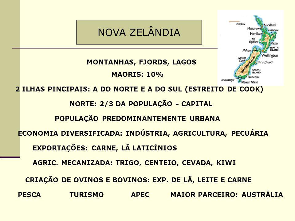 NOVA ZELÂNDIA MONTANHAS, FJORDS, LAGOS MAORIS: 10%