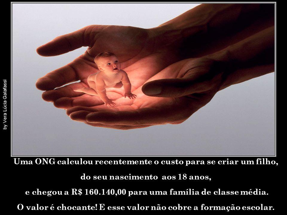 Uma ONG calculou recentemente o custo para se criar um filho,